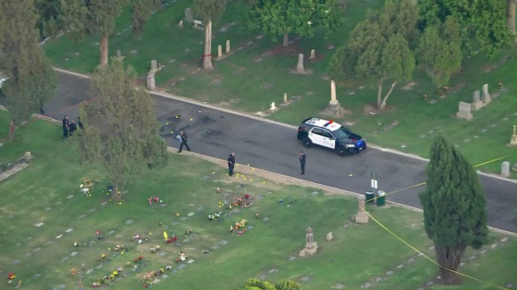 Shooting at Santa Ana Cemetery